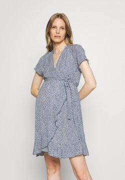 Missguided Maternity - WRAP DRESS - Vestido informal - blue
