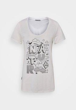 Icebreaker - TECH LITE SCOOP NATURE - T-Shirt print - snow