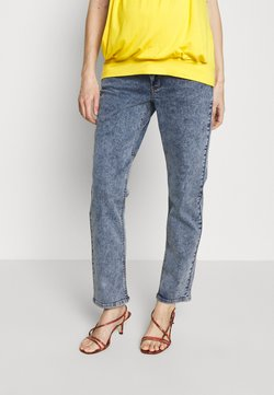 MAMALICIOUS - MLELKO CROPPED COMFY FIT - Relaxed fit jeans - light blue denim/stone wash