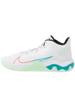 Nike Performance - RENEW ELEVATE - Obuwie do koszykówki - white/black/flash crimson/oracle aqua/vapor green