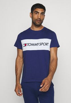 Tommy Hilfiger - COLOURBLOCK LOGO - Printtipaita - blue