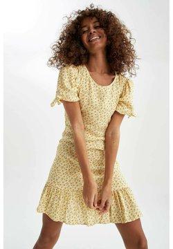 DeFacto - Korte jurk - yellow