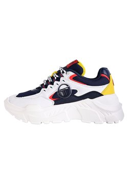 sergio tacchini - SNEAKER WOXED MIX - Sneaker low - white