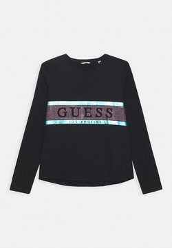 Guess - JUNIOR HIGH LOW - Long sleeved top - jet black