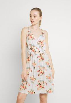 Vila - VIMESA SHORT DRESS - Freizeitkleid - snow white