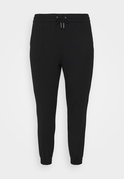 Vero Moda Curve - VMEVA LOOSE TRACK PANTS - Pantalones deportivos - black