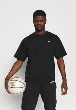 Nike Performance - DRY CUTOFF CREW - T-Shirt basic - black/pale ivory