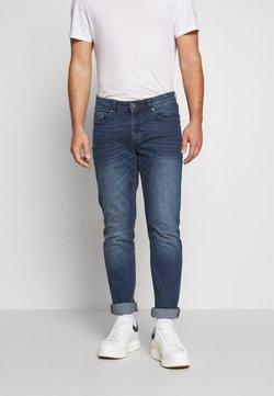 IZOD - MID BLUE SLIM STRAIGHT DENIM - Straight leg jeans - lonestar