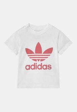 adidas Originals - TREFOIL UNISEX - T-shirt print - white/hazy rose