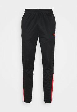 Puma - TEAMLIGA TRAINING PANTS - Pantaloni sportivi - black/red blast