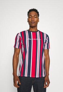 Kings Will Dream - NESTON STRIPE TEE - T-Shirt print - navy/red/white