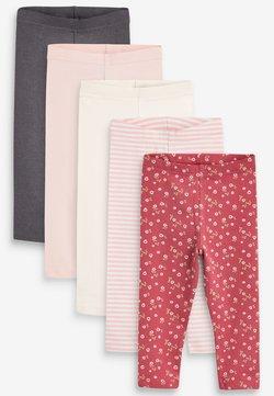 Next - 5 PACK RIBBED - Leggings - pink
