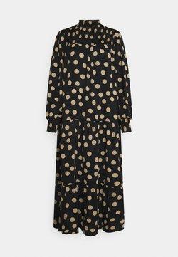 Glamorous - SMOCKED HIGHNECK MAXI DRESSES WITH LONG SLEEVES - Maxikleid - black/sand