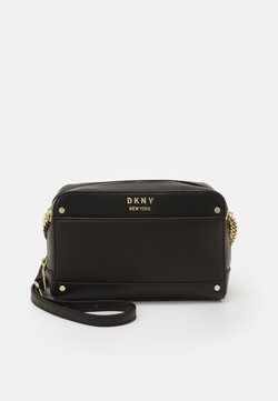 DKNY - THELMA CAMERA BAG  - Umhängetasche - black/gold