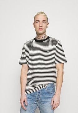 Jack & Jones PREMIUM - JPRBLASTUDIO TEE STRIPE - T-Shirt print - egret/black