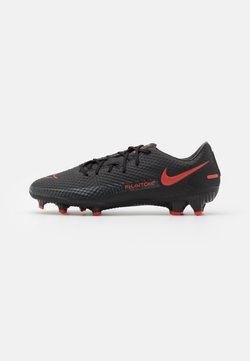 Nike Performance - PHANTOM GT ACADEMY FG/MG - Fußballschuh Nocken - black/chile red/dark smoke grey
