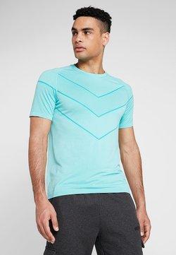 Puma - REACTIVE TEE - T-Shirt print - blue turquoise