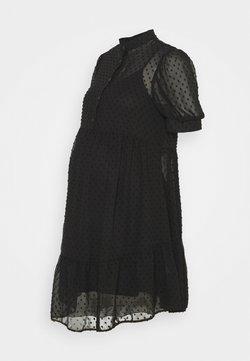 New Look Maternity - GRANDAD DOBBY MINI - Cocktailklänning - black