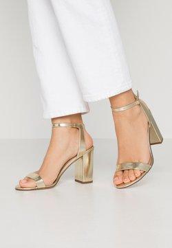 Dorothy Perkins - SHIMMER BLOCK HEEL - High Heel Sandalette - gold