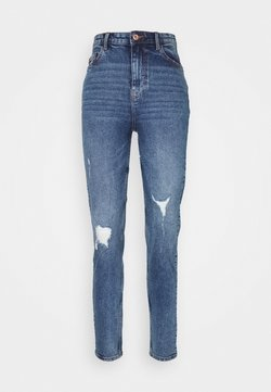 Pieces - PCKESIA MOM DESTROY - Jeans baggy - medium blue denim