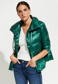 comma - MIT MODERNEM PILLOW - Daunenjacke - emerald