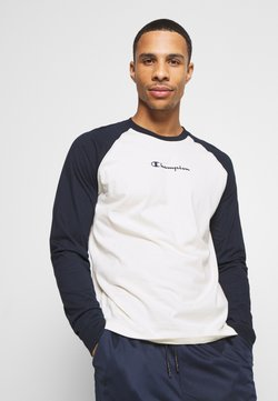 Champion - LEGACY CREWNECK LONG SLEEVE - Pitkähihainen paita - off white/navy