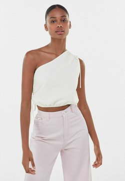 Bershka - Top - off-white
