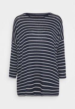 Vero Moda Tall - VMBRIANNA - Strickpullover - navy blazer/with snow white stripes