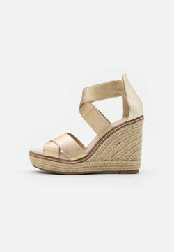 Dorothy Perkins - ECO REEL WEDGE - Sandalen met hoge hak - gold