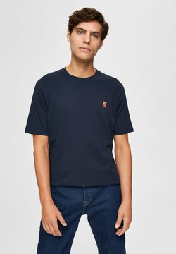 Selected Homme - RELAXED FIT - T-shirt basic - sky captain