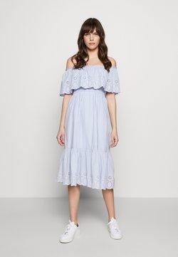 Dorothy Perkins - BRODERIE TIERED FRILL DRESS - Sukienka letnia - blue