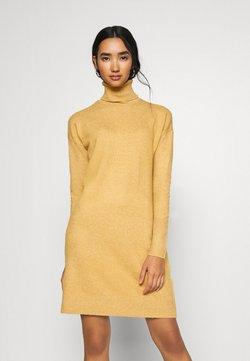 Vero Moda - VMBRILLIANT ROLLNECK DRESS - Neulemekko - buckthorn brown melange
