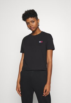 Tommy Jeans - BADGE TEE - T-shirt basic - black