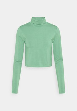 Cotton On - EVERYDAY CHOP MOCK NECK LONG SLEEVE - Langærmede T-shirts - chinois green