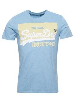 Superdry - VINTAGE LOGO - T-shirt imprimé - sea wash mid blue
