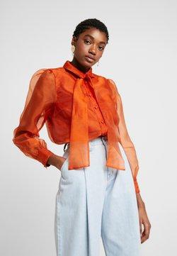 Vero Moda - VMAVA ORGANZA - Button-down blouse - Hemdbluse - cinnamon stick