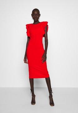 WAL G TALL - TALL FRILL SLEEVE MIDI DRESS - Sukienka etui - red