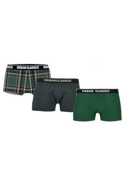 Urban Classics - BOXER SHORTS 3-PACK - Panties - dgrn plaidaop+btlgrn/dblu+dgrn