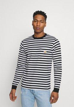 Carhartt WIP - SCOTTY POCKET - Langarmshirt - black/white