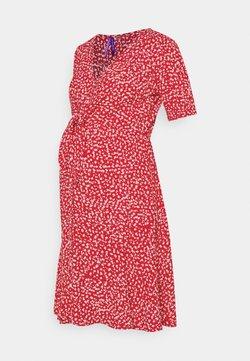 Seraphine - DAFFODIL TIE FRONT DRESS - Vestido informal - red