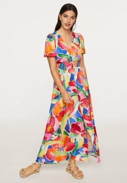 OYSHO - LONG MAXI-FLORAL DRESS 31992115 - Maxikjoler - multi-coloured