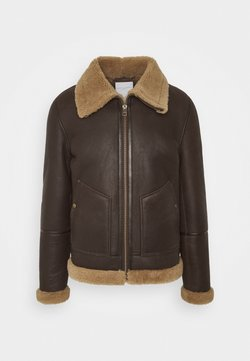 Goosecraft - LONDON LAMMY - Leather jacket - cacao