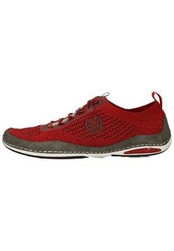 Bugatti - Sznurowane obuwie sportowe - dark red