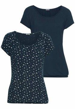 LASCANA - 2 PACK - T-Shirt print - navy
