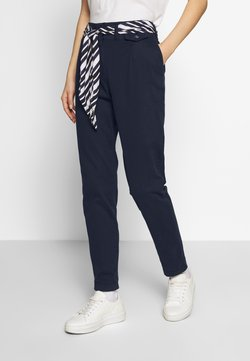 TOM TAILOR - PAPERBAG PANTS - Chinot - sky captain blue