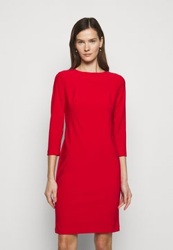 Lauren Ralph Lauren - BONDED DRESS TRIM - Vestido de tubo - lipstick red