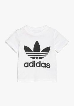 adidas Originals - TREFOIL TEE - T-shirt print - white/black