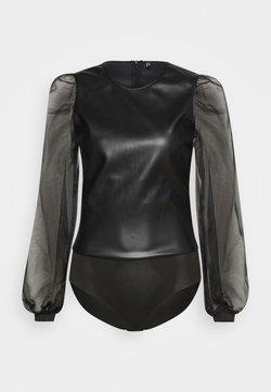 ONLY - ONLMAXIMA FAUX BODYSTOCKING - Langarmshirt - black