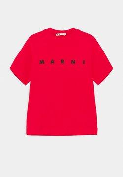 Marni - MAGLIETTA UNISEX - T-Shirt print - geranium red