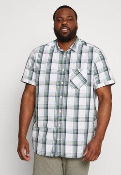 TOM TAILOR MEN PLUS - COLOURFUL CHECK - Hemd - white/blue